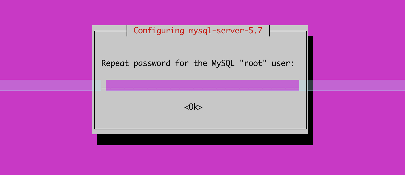 MySQL Confirm Password Prompt